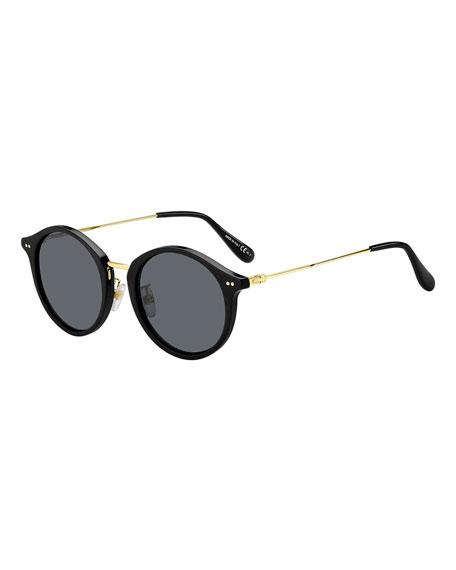 Givenchy Men's Round Plastic Sunglasses