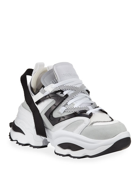 And White The Giant Leather Black Sneakers mvN0wn8O