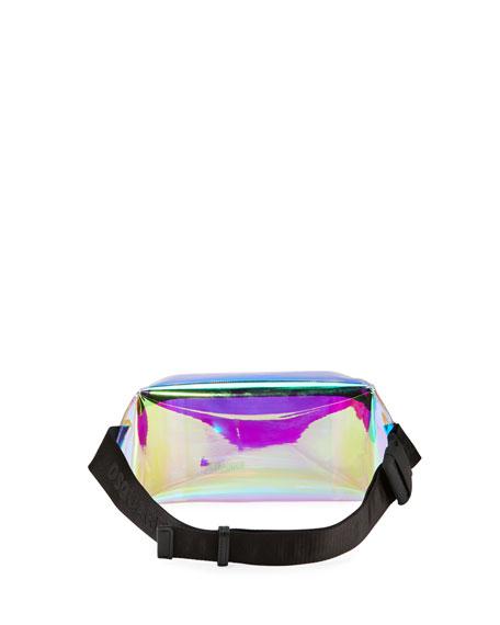 Dsquared2 Men's Small PVC Belt Bag w/ Leather Trim