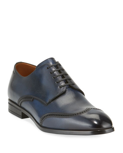 Men's Liniz Wing-Tip Derby Shoes