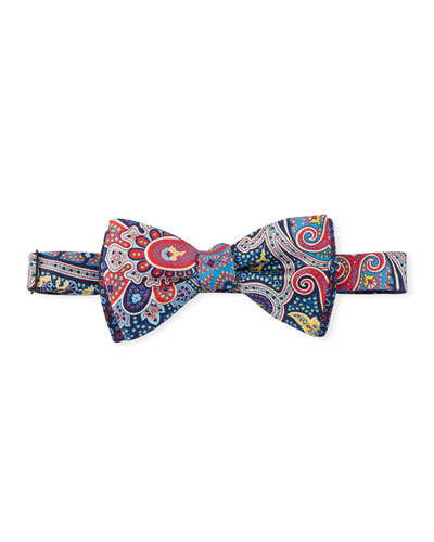 Paisley & Dotted Bow Tie