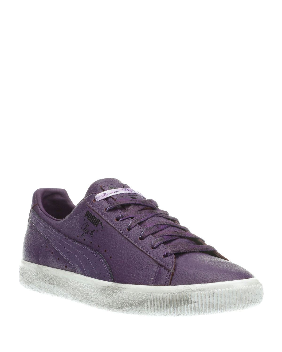 Puma Men s Puma X PRPS Clyde Leather Low-Top Platform Sneakers ... a545f01bf