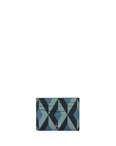 Men's Cadogan Slip Card Case  Blue