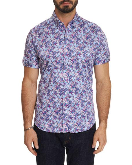 Robert Graham T-shirts MEN'S PALADIN GRAPHIC SHORT-SLEEVE SPORT SHIRT
