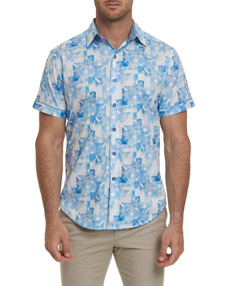 Robert Graham T-shirts MEN'S ATHENS SHORT-SLEEVE SHIRT