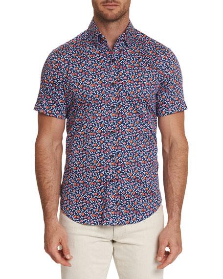 Robert Graham T-shirts Men's Roark Graphic Short-Sleeve Sport Shirt