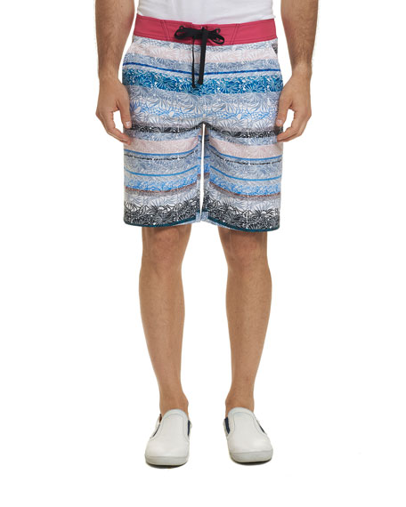 Robert Graham Pants MEN'S PILLARS SWIM TRUNKS