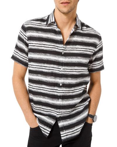 Men's Fane Striped Button-Down Shirt