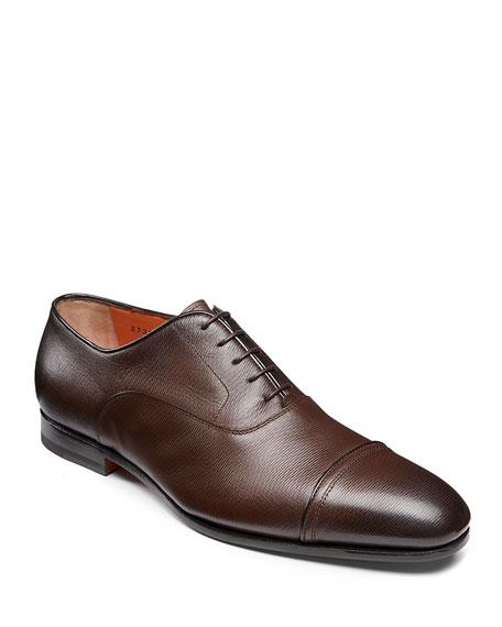 Santoni Shoes MEN'S IAFET LEATHER LACE-UPS