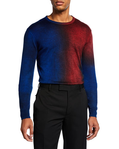 Men's Two-Tone Crewneck Sweater