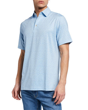 6cdd5d6933bf Peter Millar Men s Sean Crystal Print Clubs Polo Shirt. Favorite. Quick Look