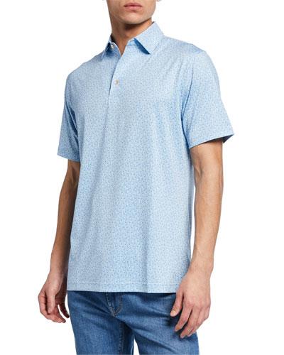Men's Sean Crystal Print Clubs Polo Shirt