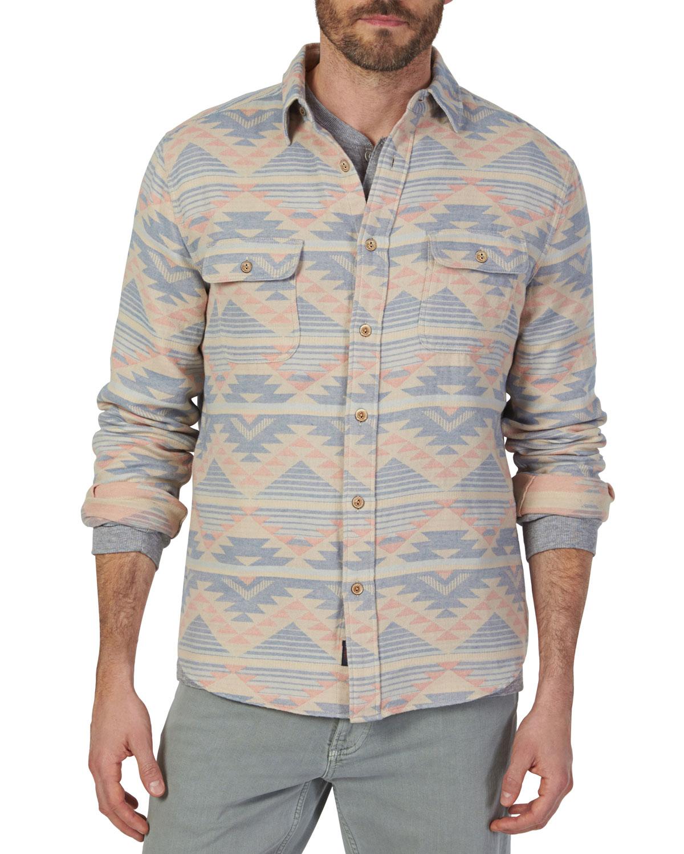 Faherty Men's Belmar Western-Pattern Shirt