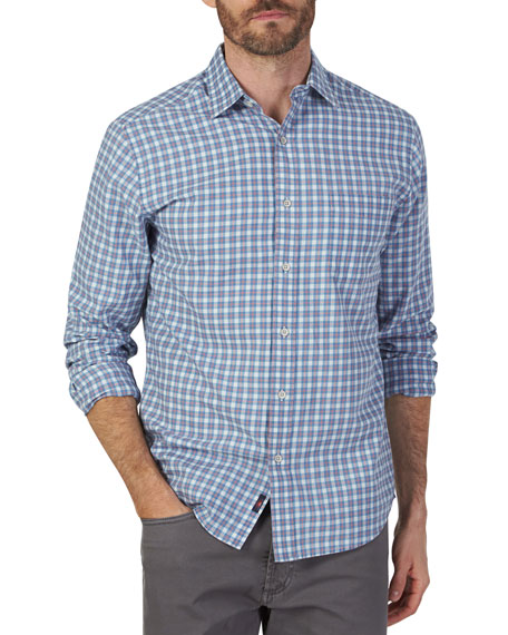 Faherty T-shirts Men's Ventura Plaid Button-Down Shirt