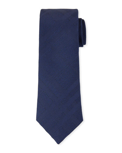 Manston Tonal-Check Silk Tie
