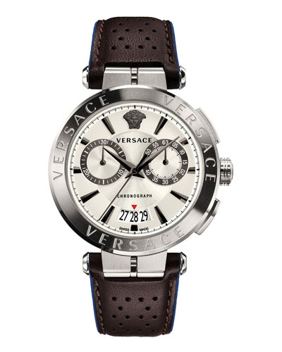 Men's Aion Chronograph Leather Watch