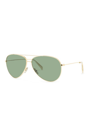 Celine Men's Golden Aviator Sunglasses