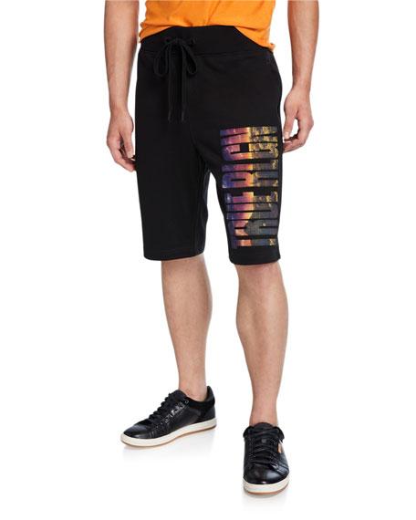 True Religion Men's Photo-Real Logo Sweat Shorts