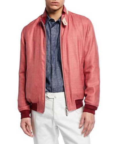 Men's Heathered Silky Wool-Cashmere Sport Jacket