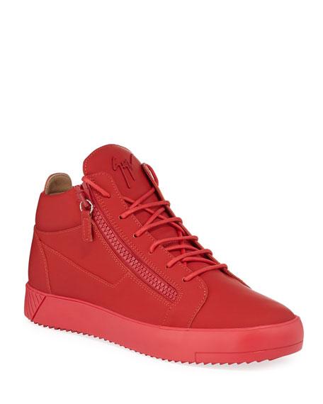 Giuseppe Zanotti Men's Tonal Mid-Top Sneakers