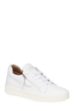 Giuseppe Zanotti Men's Updated Double-Zip Low-Top Sneakers