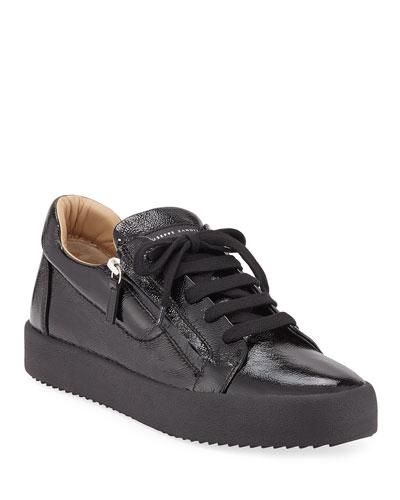 Men's Updated Double-Zip Patent Sneakers