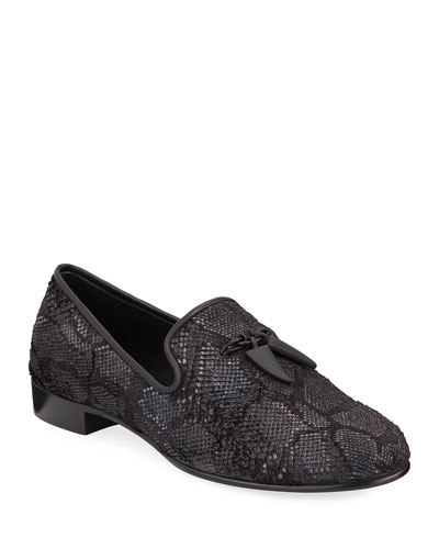 Men's Kevin Embossed Slip-On Evening Shoes