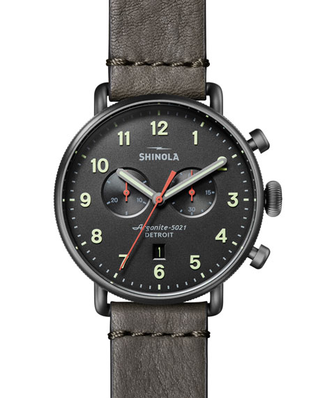 Shinola Watches Men's 43mm Canfield Chronograph Watch