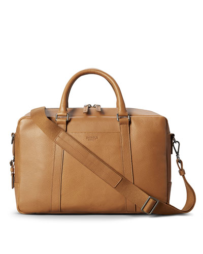 Men's Slim Signature Leather Briefcase