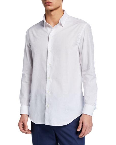 Emporio Armani T-shirts MEN'S TONAL JACQUARD SPORT SHIRT