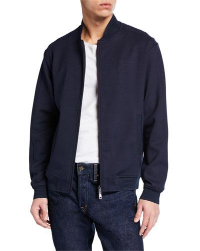 Men's Hookup Zip-Front Knit Jacket