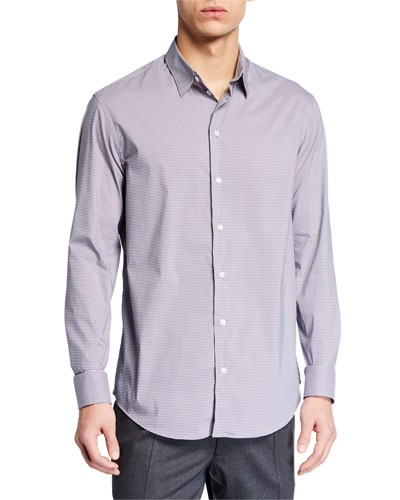 Men's Geometric-Print Sport Shirt