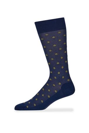 Marcoliani Men's Flower Motif Socks