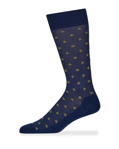 Men's Flower Motif Socks