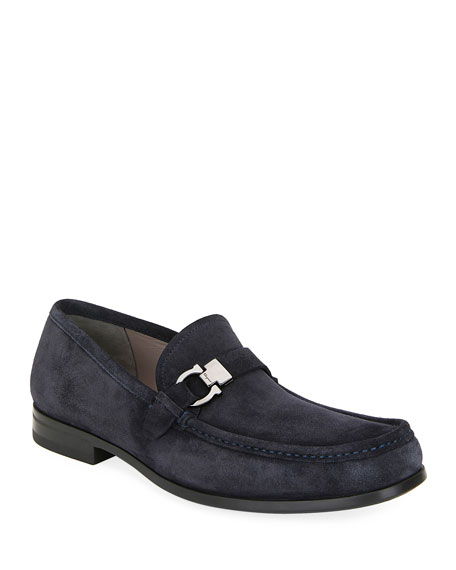 Salvatore Ferragamo Men's Adam Gancio Suede Loafers