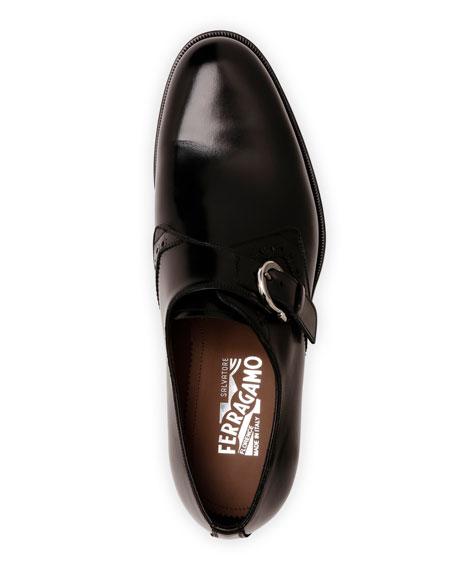 Salvatore Ferragamo Men's Tobias Monk-Strap Gancio Loafers