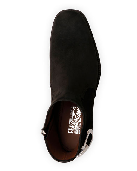 Salvatore Ferragamo Men's Bankley Gancini Ankle Boots