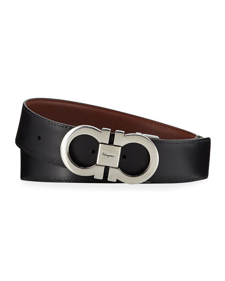 Salvatore Ferragamo Men's Gancini Reversible Leather Belt