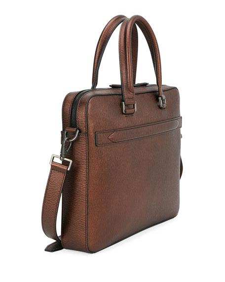 Salvatore Ferragamo Men's Revival Textured Leather Briefcase