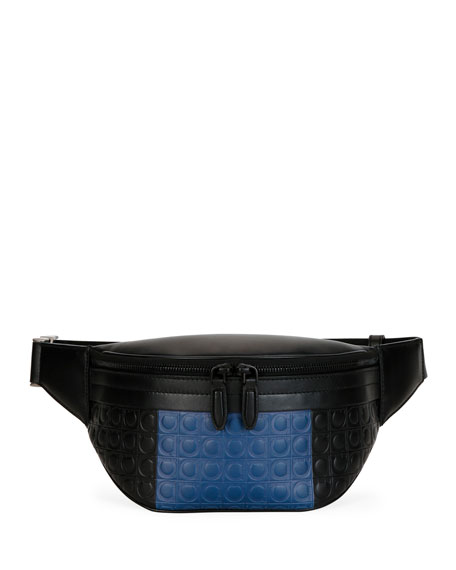 Salvatore Ferragamo Men's Firenze Gamma Two-Tone Gancini Belt Bag