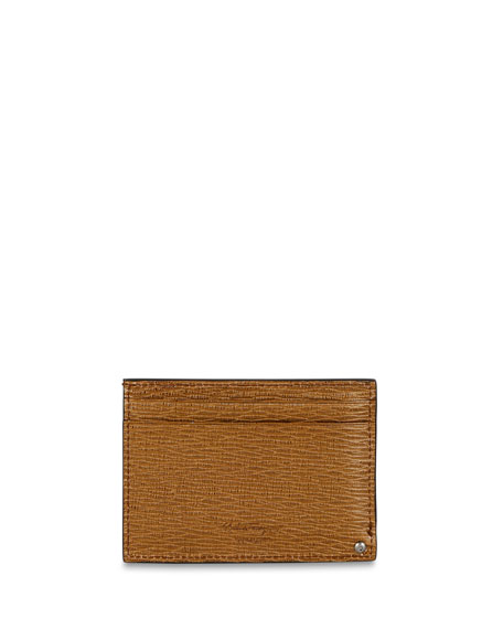 Salvatore Ferragamo Men's Revival Gancini Card Case with Pull-Out Window