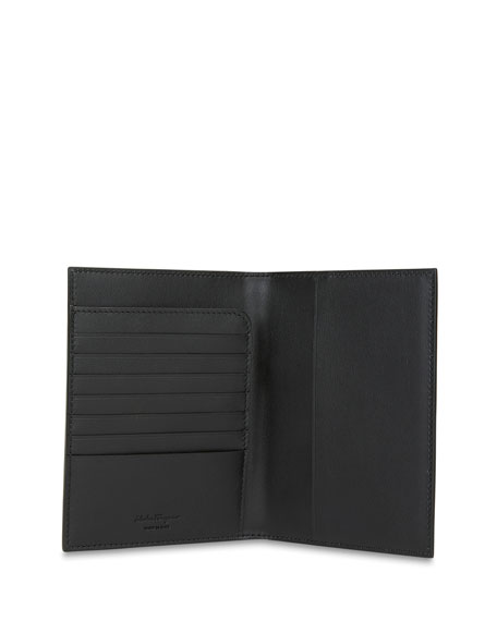 Salvatore Ferragamo Men's City Miami Leather Passport Holder