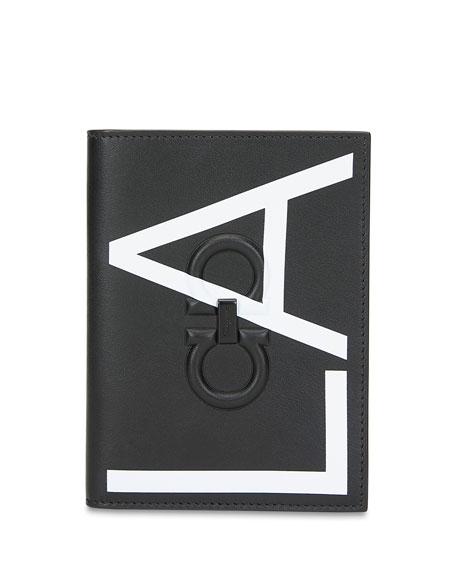Salvatore Ferragamo Men's City LA Leather Passport Holder