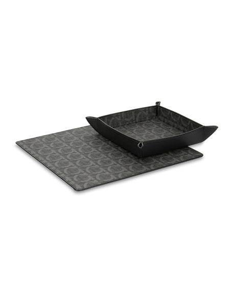 Salvatore Ferragamo Gancini Catch-All Tray & Mouse Pad Gift Set