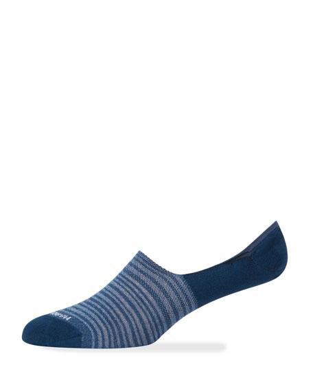 Marcoliani Men's Multi-stripe No-Show Socks