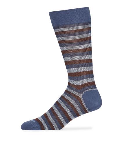 Men's Striped Cotton-Blend Socks