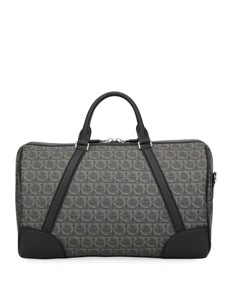 Salvatore Ferragamo Men's Gancini-Print Weekender Duffel Bag