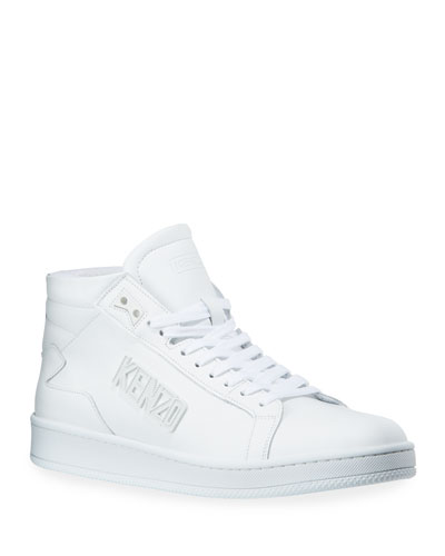 Men's Sport Mid-Top Leather Sneakers