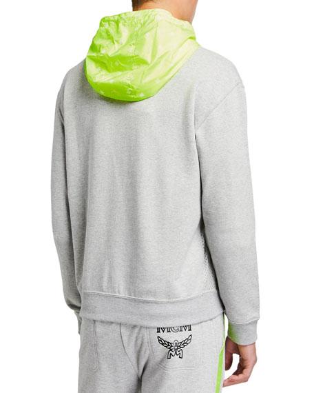 MCM Men's Luccent Contrast-Hood Sweatshirt