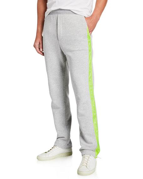MCM Men's Luccent Side-Stripe Sweatpants